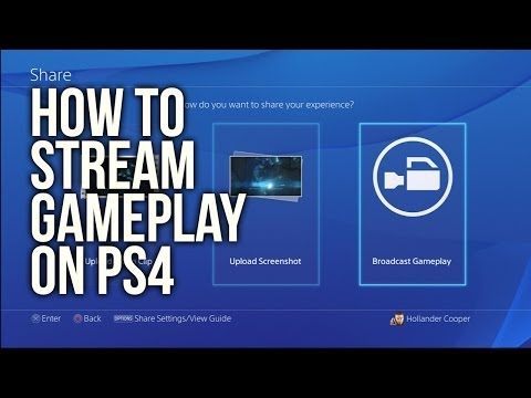 How to stream to Twitch and Ustream on PS4