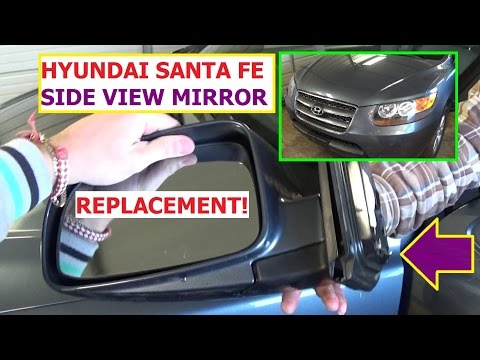 How to Remove and Replace Side Rear View Mirror Hyundai Santa Fe IN 1 MINUTE!!!
