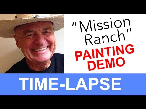 "Plein Air Painting, ""Cottage at Mission Ranch"" Time-lapse"