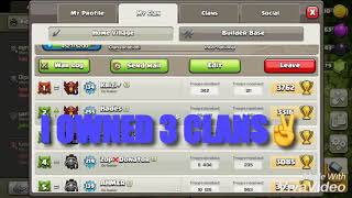 How Many Clans I Owned? Clash of clans