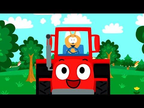 Мультик про красный трактор все серии подряд без остановки