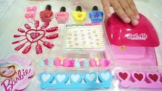 Barbie Nail Art Fashion Set 💖 Mainan Anak Riasan Kuku Cantik 💖 Let's Play Jessica Jenica