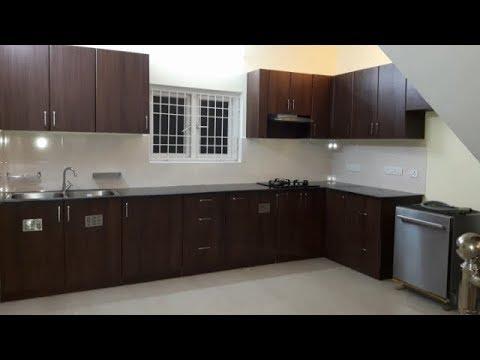 Teak Walnut Colour Finish For Ramya Modular Kitchen Interiors Mr