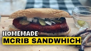 Homemade McRib Sandwich on the Kamado Joe | 3-2-1 Ribs | Baby Back Ribs | Rib Sandwich