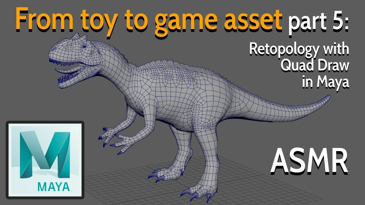 From toy to game asset - Part 5: Retopology with Quad Draw