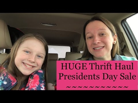 HUGE Thrift Haul 50% Off Goodwill Presidents Day Sale