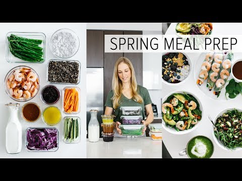 MEAL PREP for SPRING   healthy recipes + PDF guide
