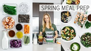 MEAL PREP for SPRING | healthy recipes + PDF guide