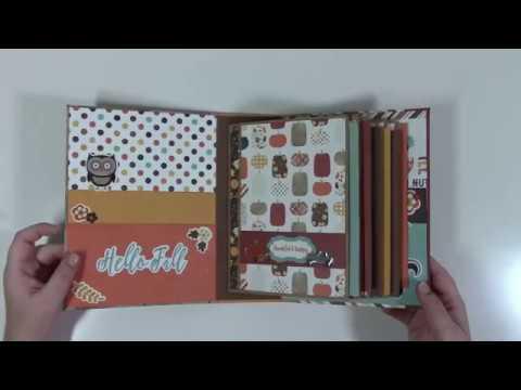 Flap and Pockets Mini Album (Beginner Series 1) Construction Video
