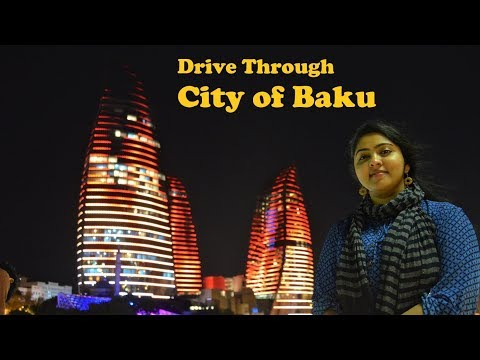 Drive Through City of Baku - Azerbaijan