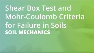 Shear Box Test and Mohr-Coulomb Criteria for Failure in Soils | Soil Mechanics