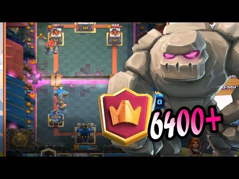 🔥#1 In The Worlds 🔥BEST  Golem Lightning DECK 6400+ Gameplays - Clash Royale