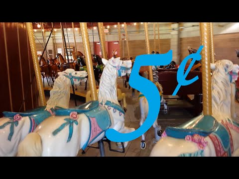100 Year Old Carousel Still 5 cents a ride !!! #kw