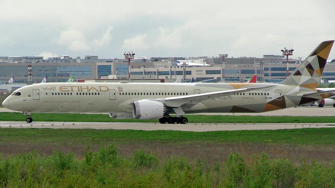 Самый длинный Dreamliner улетел из Москвы  - Boeing 787-10 Etihad Airways / Домодедово 2020