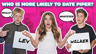 WHO'S MORE LIKELY TO Challenge w/ my CRUSH **SECRET KISSING Revealed**💋💔| Piper Rockelle