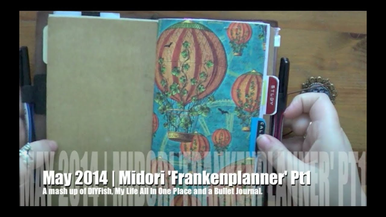 graphic regarding My Life All in One Place called Midori Franken-Planner Pt1 May well 2014 Mounted Up