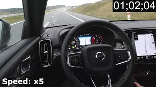 Volvo XC40: Pilot Assist on a highway - real life test :: [1001cars]