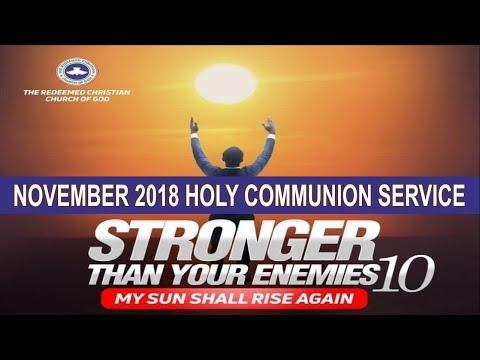 RCCG November 2018 HOLY COMMUNION SERVICE