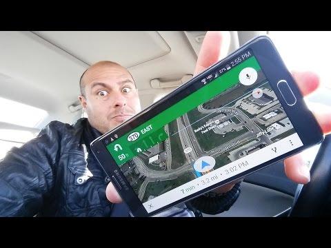 Samsung Galaxy Note 4 - Google Maps Navigation Test