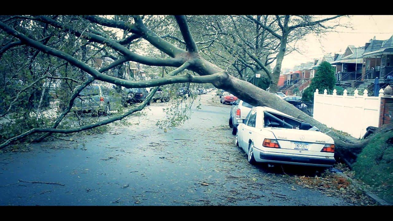 Filming during Hurricane Sandy