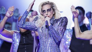 Watch Lady Gaga goes from the roof to the stage in one of the most ...