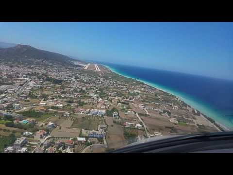 LGRP Rhodes Airport,  jet on a visual approach left base runway 25