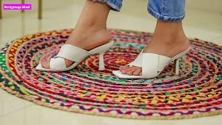 Footwear Haul   Flats Heels Juttis Sliders   Perkymegs Hindi