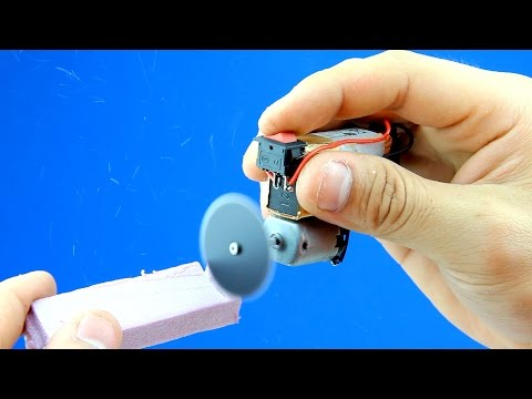 How To Make A Mini Dremel Tool From DC Motor - Mini Dremel Tool DIY - DC Motordan Mini Dremel Aracı