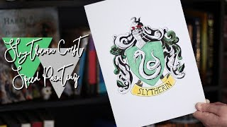 Slytherin Crest Speed Painting l Harry Potter