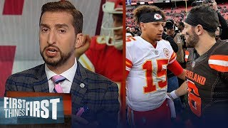 Baker and Mahomes will be this generation's Brady/Manning - Nick Wright | NFL | FIRST THINGS FIRST