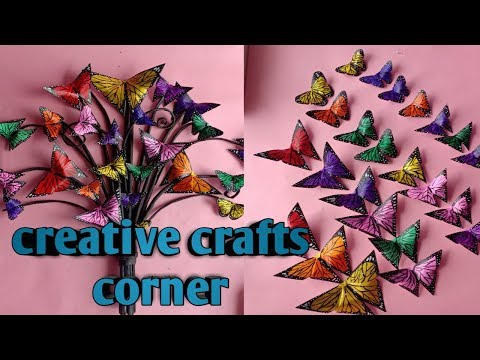 Butterfly wall decor part - 1 / paper butterflies