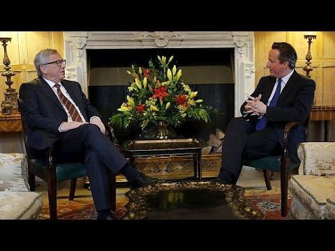 Cameron ve Junker Londra'nın AB üyeliğini ele aldı