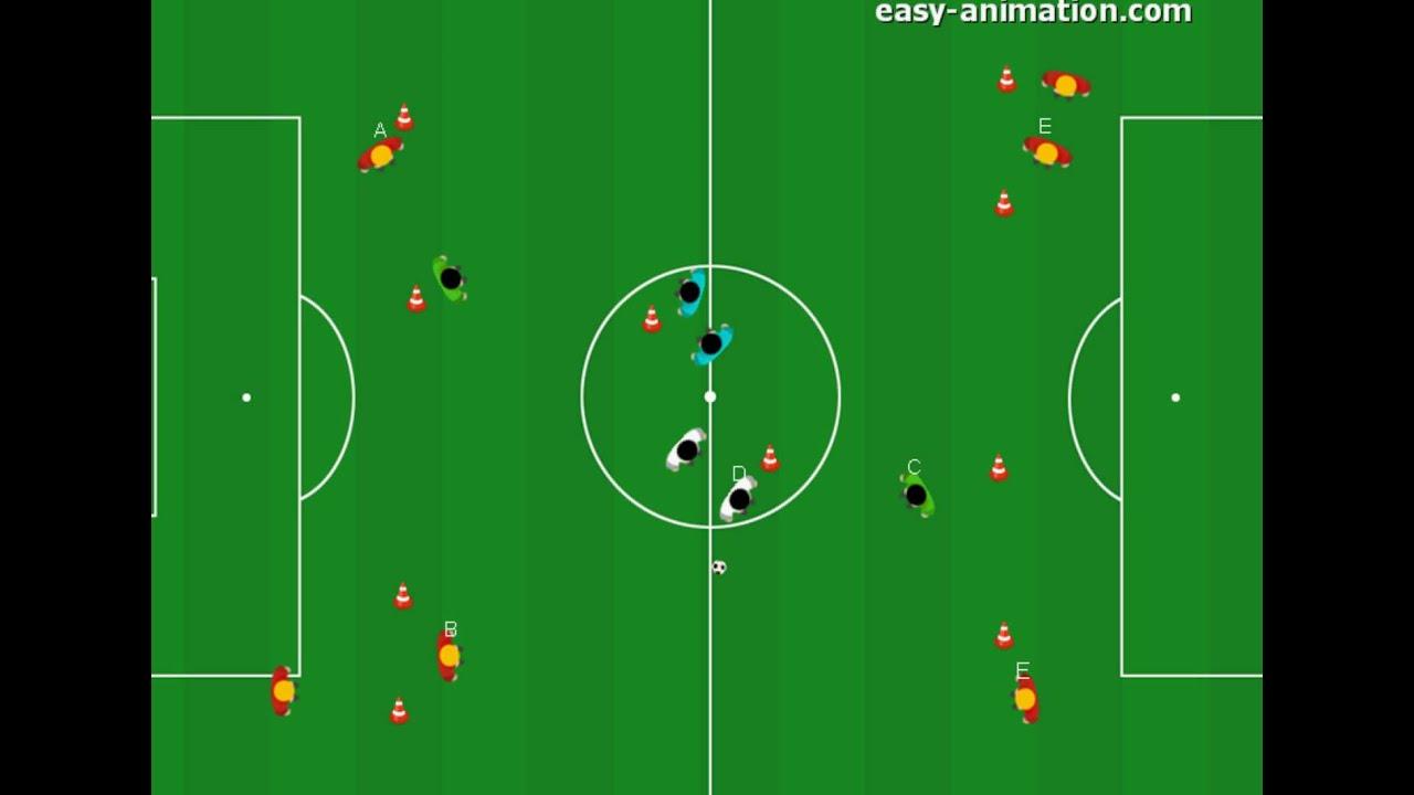 Fussball Ubungen Spielverlagerung Und Vertikale Passe 2