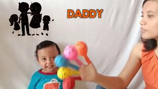 Finger Family Kid Song with Colorful Balloons