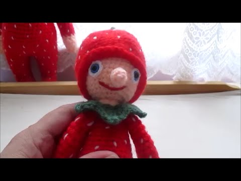 Amigurumi Doll Arms : Amigurumi strawberries doll hand and arm crochet tutorial youtube