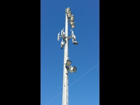 HUGE CELL TOWER IN THE MIDDLE OF MONROVIA HIGH SCHOOL CAMPUS IN CALIFORNIA