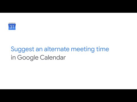 Suggest an alternate meeting time in Google Calendar
