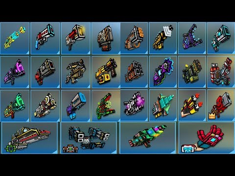 Pixel Gun 3D - Using All Cyber Heavy Weapons Challenge [Cyber Mode]