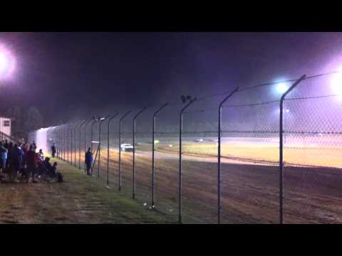 Codey White 49w 11 years old racing at Ark-La-Tex Speedway 2nd video from 10/2010