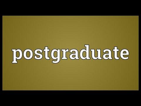 Postgraduate Meaning