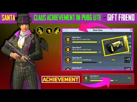 Download Santa Claus achievement pubg Lite| gift an item to a friend pubg mobile lite|BBG