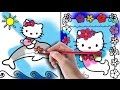 Hello Kitty Coloring Book - Hello Kitty Mermaid and Dolphin Coloring Pages