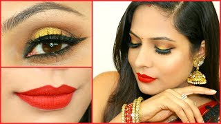 gold smokey eyes for beginners step by step indian makeup tutorial   shruti arjun anand