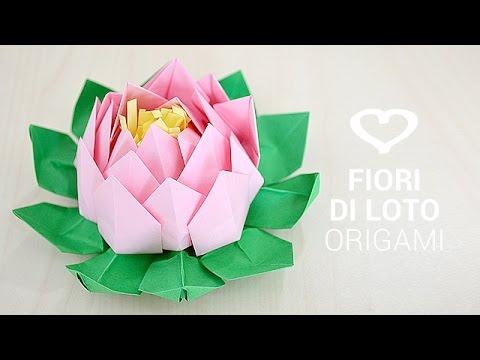 0rigami Fiori.Tutorial Come Realizzare Un Fiore Di Loto Origami La Figurina