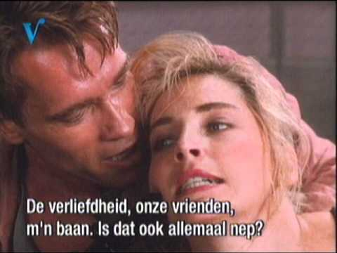 hot Sharon Stone with Arnold Schwarzenegger in total recall