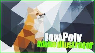 Обучение технике low Poly в Adobe Illustrator