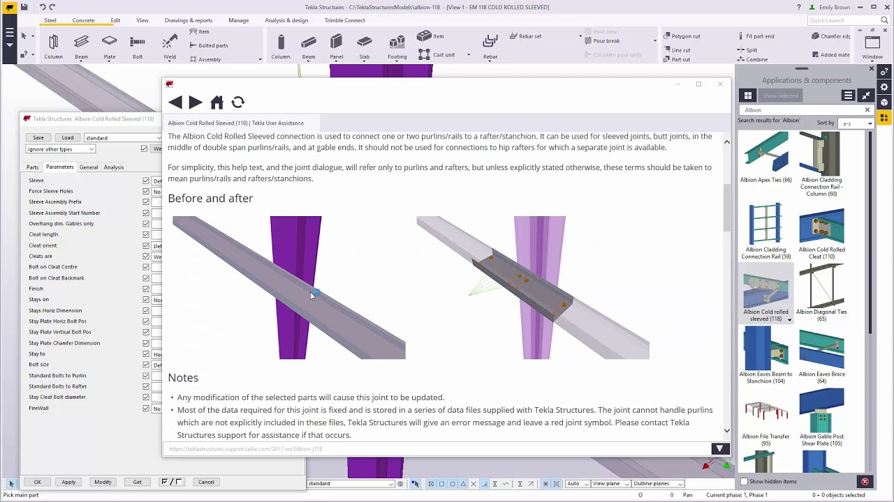 Utilising cold rolled systems within Tekla Structures | Tekla User