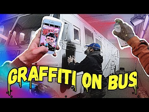 TAGGER 7 HELE RUSSEBUSSER | WHOLECAR BUS | GRAFFITI BOMBING