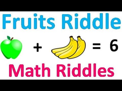 Emoji Math Puzzle | Fruits Riddle | Math Riddles