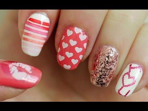 Valentine's Day Nail Tutorial (Konad Stamping)